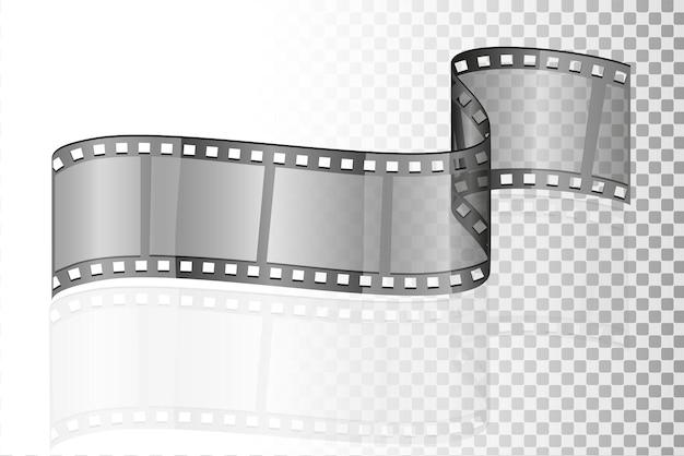 Film de cinéma transparent stock illustration isolé sur fond blanc