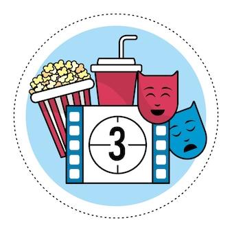 Film compte à rebours numéro 3 avec pop-corn et genres