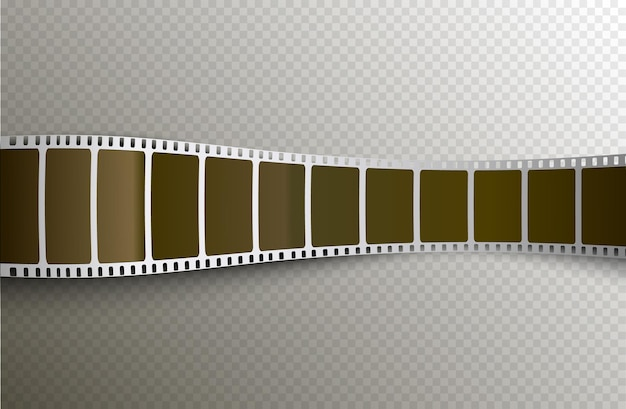 Film pellicule 3d sur fond transparent