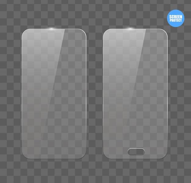 Film protecteur d'écran vectoriel ou couvercle en verre