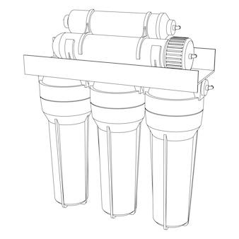 Filtre à eau de boisson vectorielle, système domestique d'osmose inverse