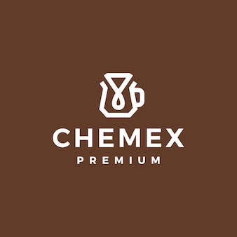 Filtre papier goutteur de café chemex logo icône vecteur illustration