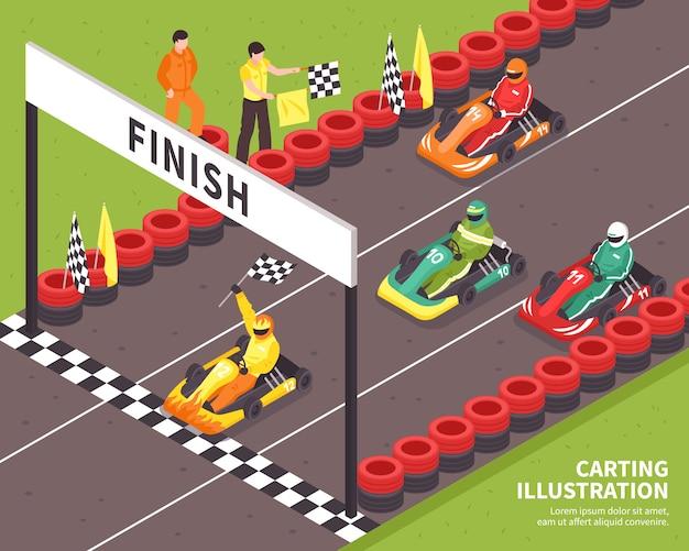 Fin de course de karting