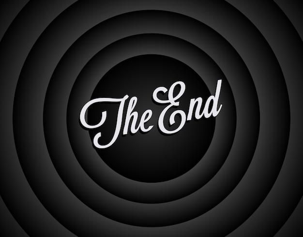 La fin du fond d'écran noir et blanc.