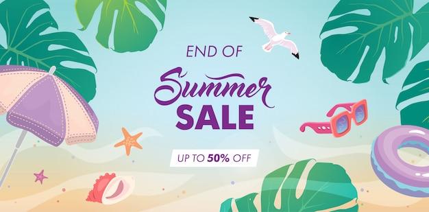 Fin de fond de vente d'été