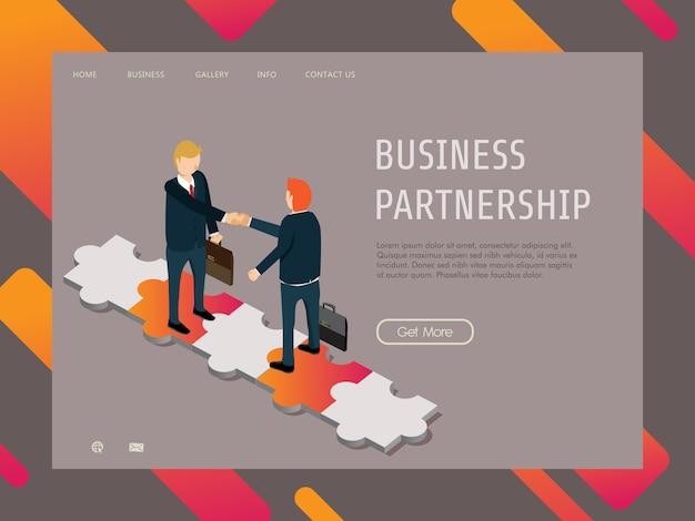 Finance d'entreprise avec partenariat d'affaires réussi