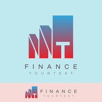 Finance initiale lettre t logo design