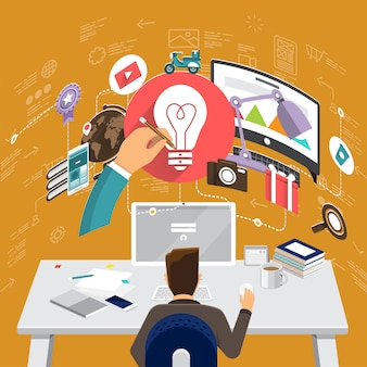 Finance marketing stratégie infographique