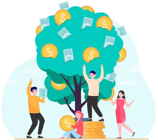 Finance, revenus, concept de croissance financière