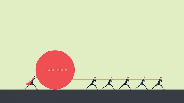 Financement des entreprises. concept de leadership, gère la croissance financière. illustration design plat