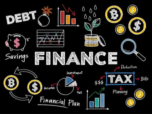 Finances et illustration de concept de performance financière