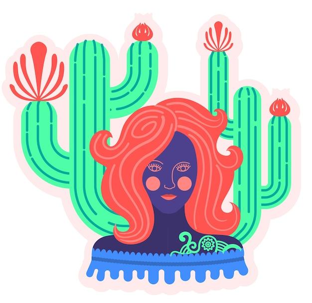 Fire desert lady