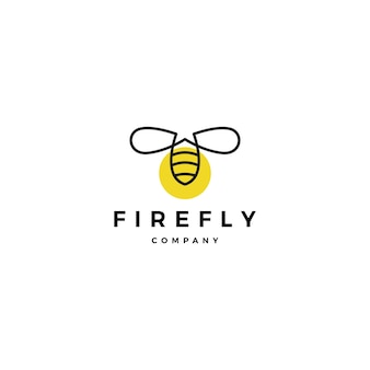Firefly logo vector icon illustration inspirations de conception