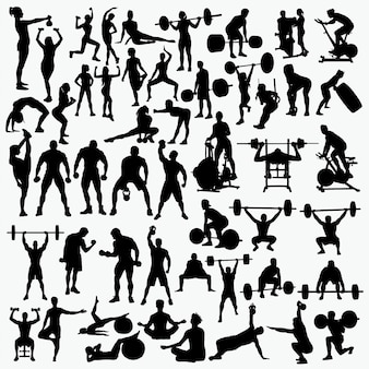 Fitness 1 silhouettes