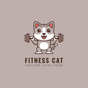 Fitness cat logo