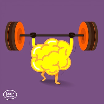 Fitness concept cerveau illustrations