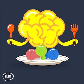 Fitness concept cerveau illustrations