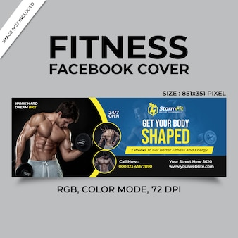 Fitness facebook couverture