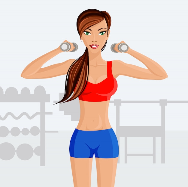 Fitness femme jeune sexy