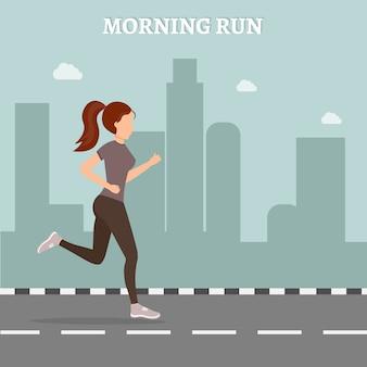 Fitness femme mis en illustration vectorielle