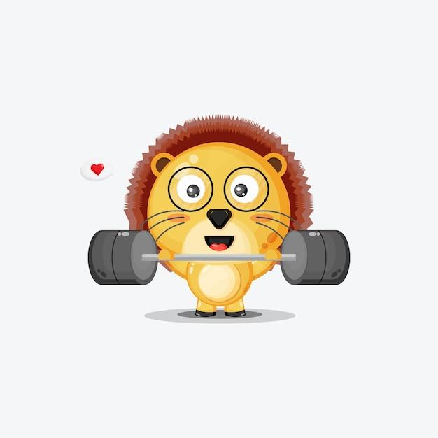Fitness gym lion mignon