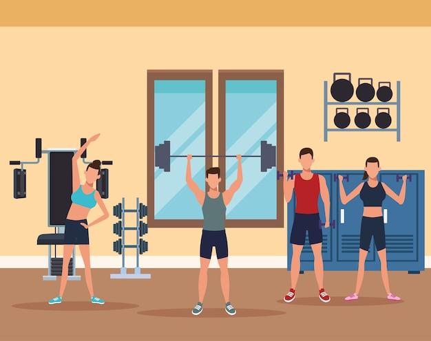 Fitness homme faire de l'exercice