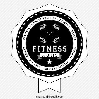 Fitness sports rétro logo vectoriel