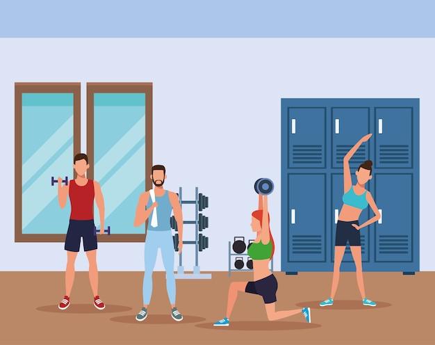 Fitnesspleople faire de l'exercice