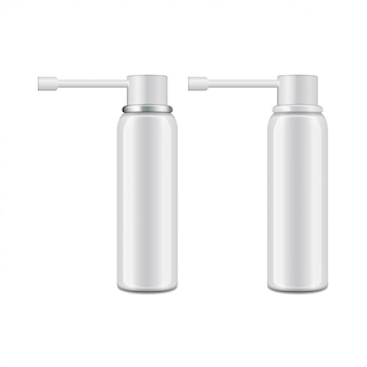 Flacon blanc en aluminium avec pulvérisateur pour spray oral.