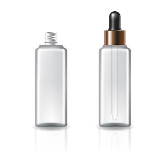 Flacon carré cosmétique clair