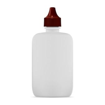 Flacon compte-gouttes nasal. maquette de conteneur de collyre