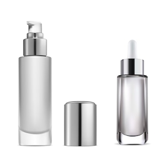 Flacon compte-gouttes de sérum cosmétique flacon pompe à eau essentielle