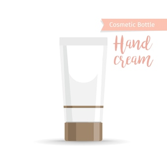 Flacon cosmétique pour la crème pour les mains