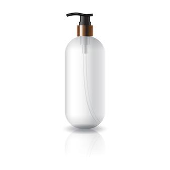 Flacon cosmétique rond et ovale transparent