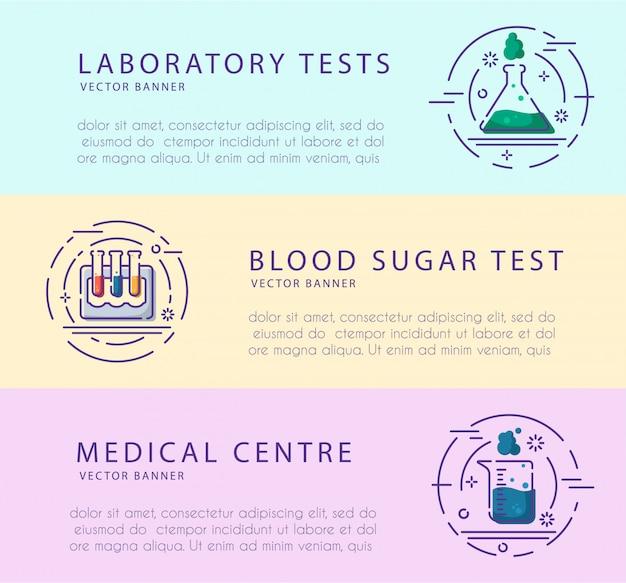 Flacon de laboratoire, tube à essai pour le diagnostic, l'analyse, les tests de dépistage.