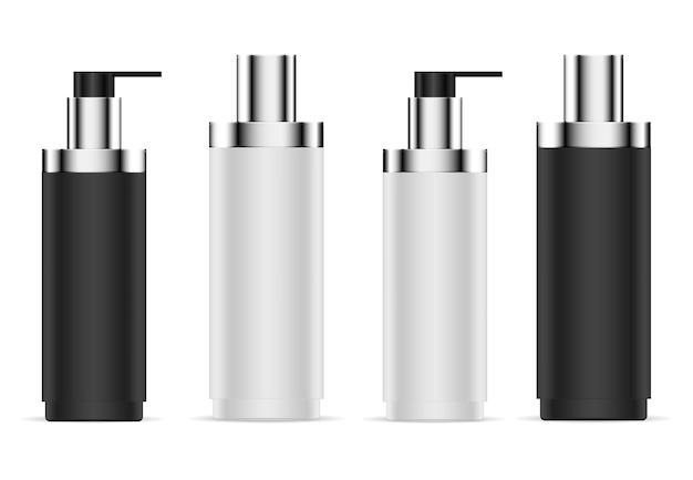 Flacon pompe airless. conteneur de sérum cosmétique. crème de fondation de sapin 3d. flacon distributeur de crème hydratante.