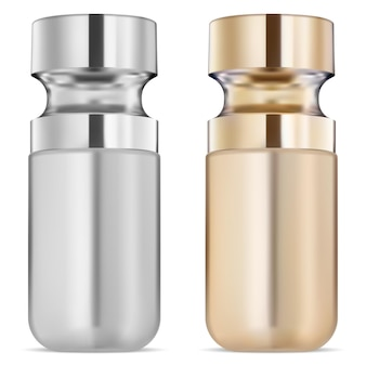 Flacon de sérum, huile cosmétique dorée, liquide de soin du visage flacon de produit de soin du visage de qualité supérieure avec pipette compte-gouttes de collagène doré naturel