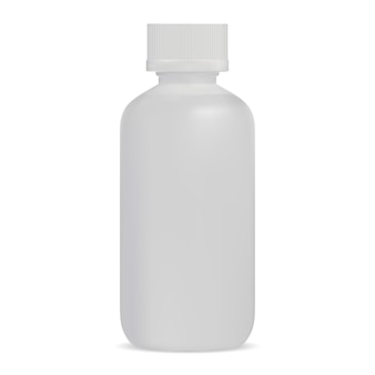 Flacon de sérum en plastique blanc