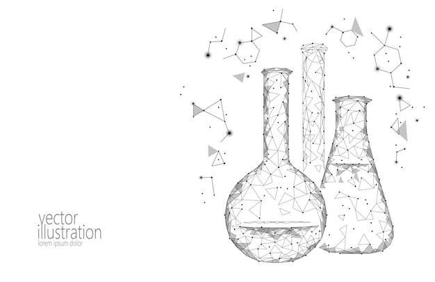 Flacons en verre chimique low science science