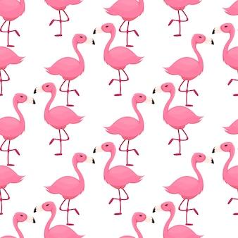 Flamant rose modèle sans couture oiseau