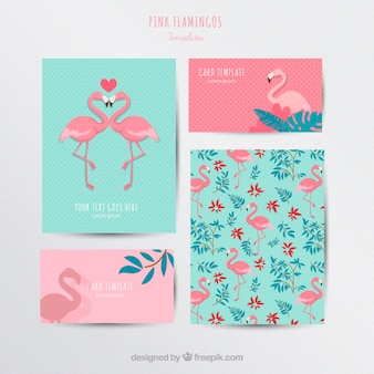 Flamants roses de papeterie