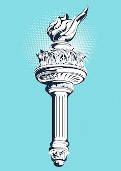 Flambeau de la statue de la liberté