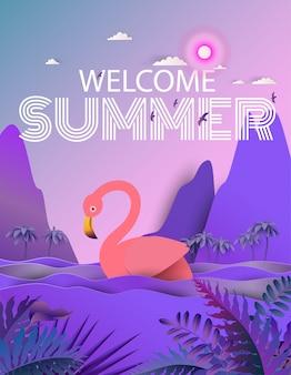 Flamingo oiseau dans la rivière