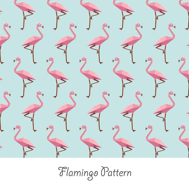 Flamingo papercraft pastel