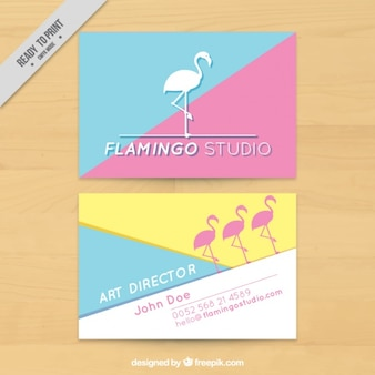 Flamingo studio d'art, carte de visite