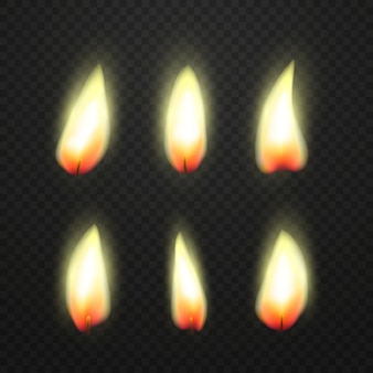 Flamme de bougies