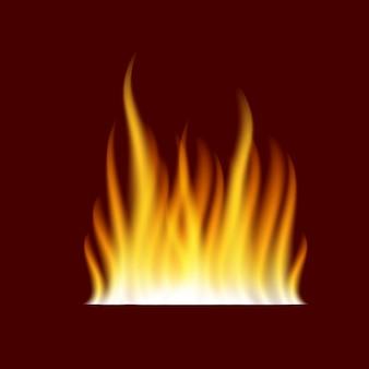 Flamme de feu brûlant réaliste