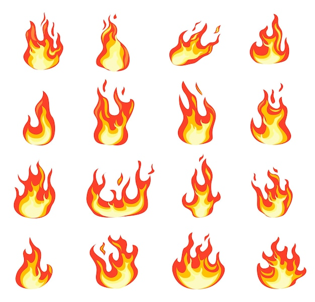 Flamme de feu de dessin animé