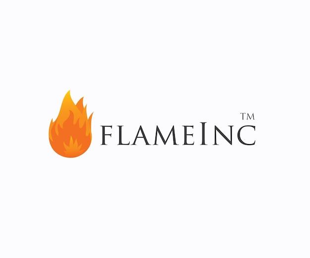 Flamme feu logo