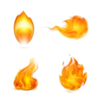 Flamme, icône